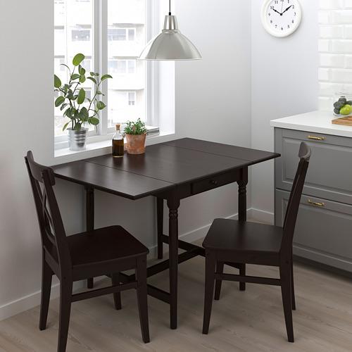 INGATORP/INGOLF mesa abatible con 2 sillas, máximo extensión 123cm