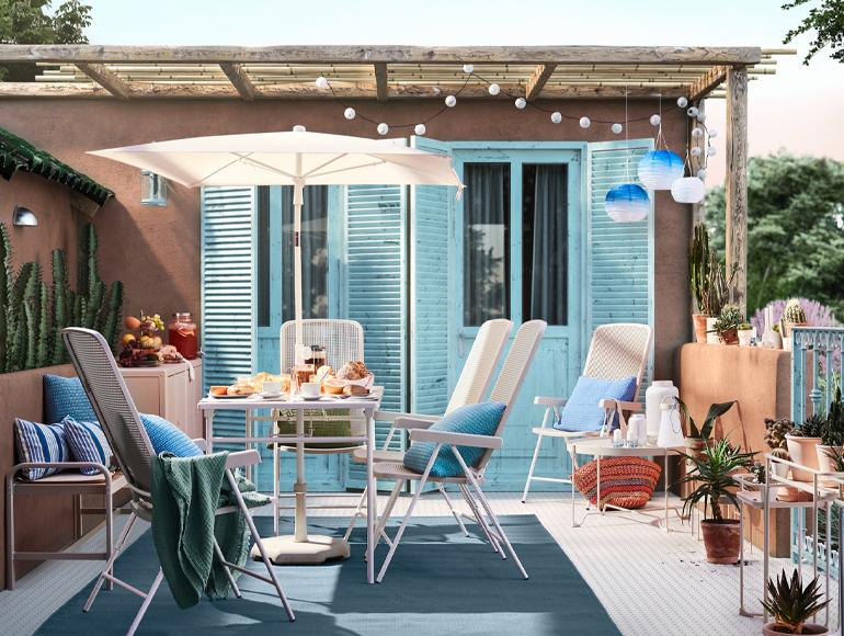 Ideas para organizar una comida en la terraza