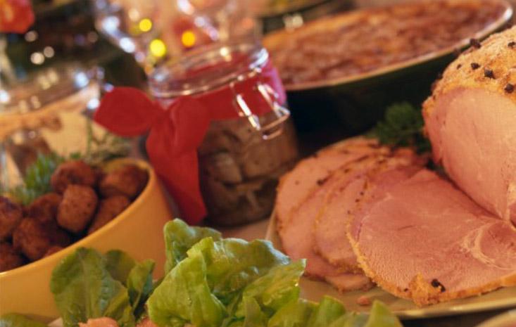 Smörgåsbord de Navidad