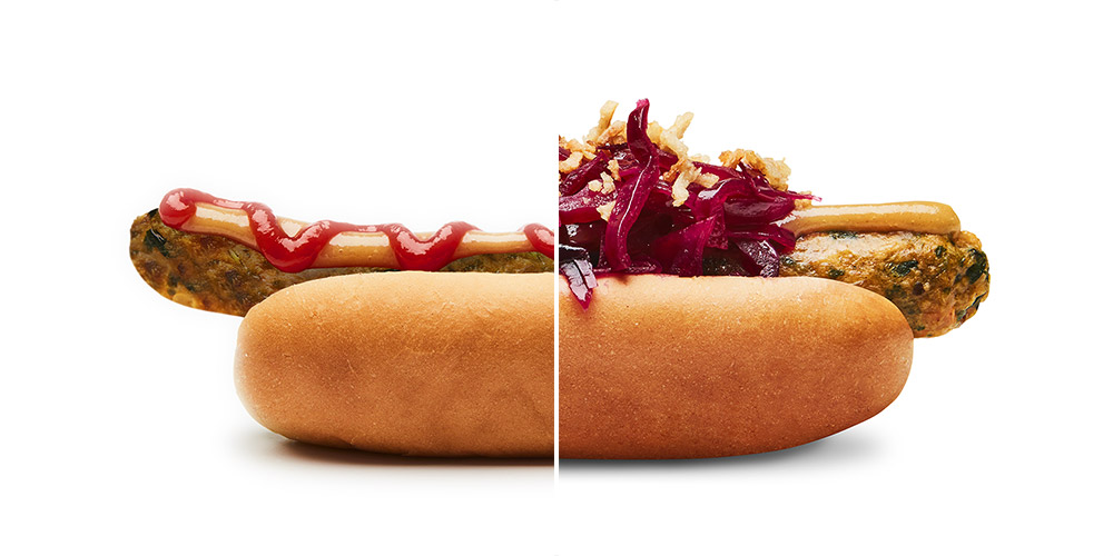 IKEA's veggie hot dog