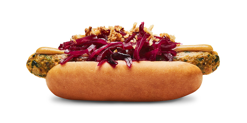 Special veggie hot dog